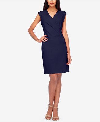 Tahari Asl Faux-Wrap Sheath Dress $129 thestylecure.com
