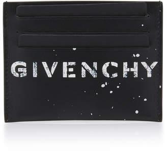 Givenchy Graffiti Logo Leather Cardholder