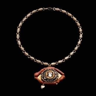 Lulu Frost Fine Vintage Pendant Necklace - Coral Eye
