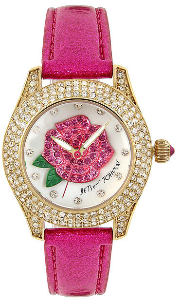 Betsey Johnson A Rose Is A Rose Shimmer Watch