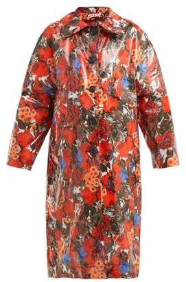 Marni Duncraig Print Waxed Cotton Raincoat - Womens - Red Multi