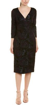 Theia Midi Sheath Dress