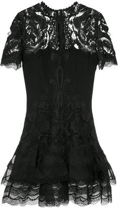 Jonathan Simkhai lace-embroidered fitted dress