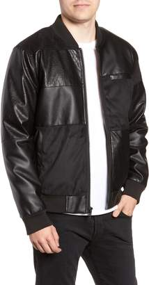 Members Only Patchwork Bomber Jacket