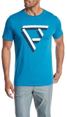Perry Ellis Geometric Print Logo Tee