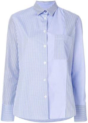 Paul Smith check and stripe panel shirt