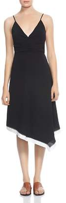 Halston Ruched Color-Block Dress