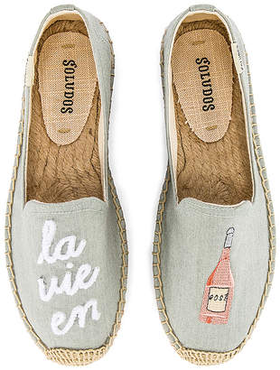 Soludos La Vie En Rose Smoking Slipper