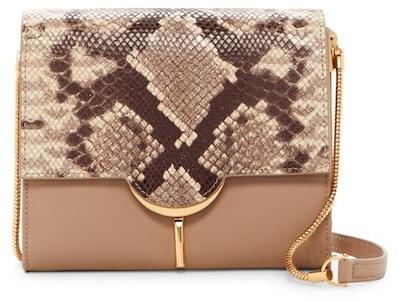 Vince Camuto Zana Leather & Suede Shoulder Bag