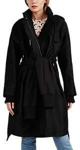 BESFXXK Women's Cotton-Blend Canvas & Jersey Four-Sleeve Parka - Black