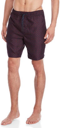 Trunks Surfside Supply 3D Checker Print Volley Swim
