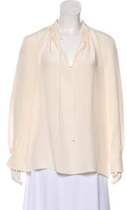Derek Lam Silk Long Sleeve Blouse Silk Long Sleeve Blouse