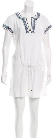 Tory BurchTory Burch Embroidered Drawstring Dress