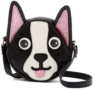 OMG! Accessories Boston Terrier Glitter Crossbody Bag