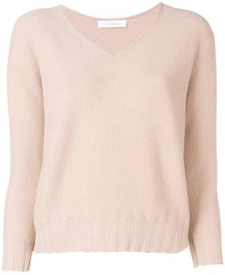 Cruciani cropped V-neck sweater