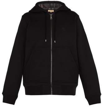 Burberry Hooded Cotton Blend Jersey Sweatshirt - Mens - Black