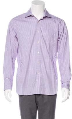 Michael Kors Gingham Button-Up Shirt
