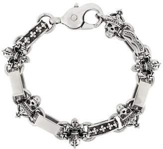 King Baby Studio skull & fleur-de-lis light link bracelet