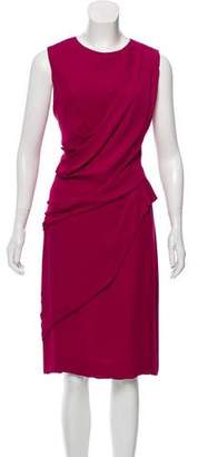 J. Mendel Draped Silk Dress