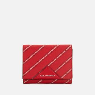 Karl Lagerfeld Women's K/Stripe Logo Medium Wallet