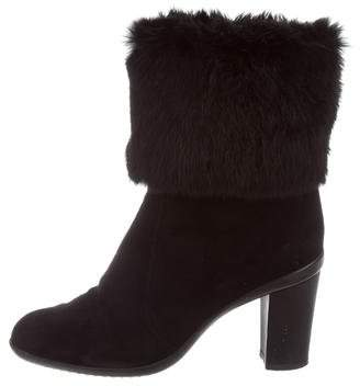 Baldinini Fur Mid-Calf Boots