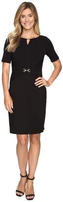 Ellen Tracy Luxe Stretch Dress w/ Keyhole Women's Dress