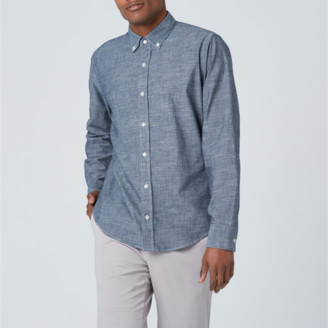 DSTLD Lightweight Chambray Button Down Shirt in Blue