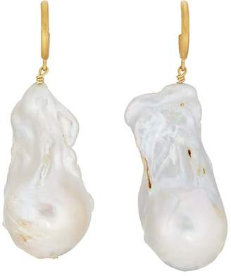 ANNI LU Women's Baroque Pearl Hoop Earrings