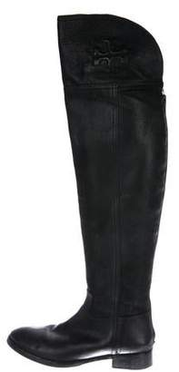 3b5628d83c9 Tory Burch Over The Knee Black Boot - ShopStyle