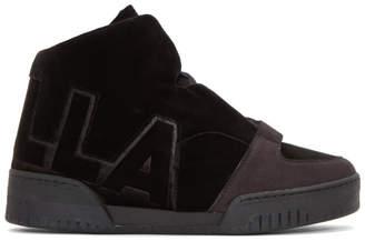 Stella McCartney Black Velvet Stella High-Top Sneakers
