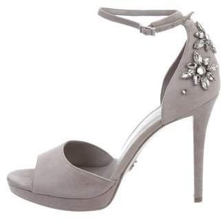 MICHAEL Michael Kors Suede Jewel-Embellished Sandals