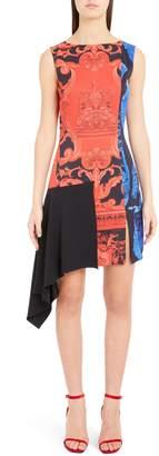 Versace Casa Print Asymmetrical Dress