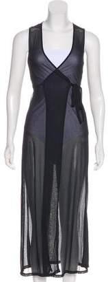 Dolce & Gabbana Mock Wrap Midi Dress