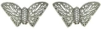 Kieselstein-Cord Kieselstein Cord Platinum Diamond Butterfly Earrings