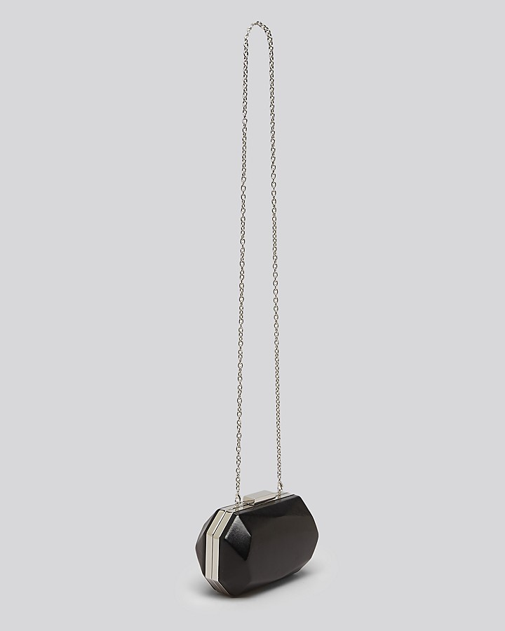 Sondra Roberts Clutch - Black Abstract Box