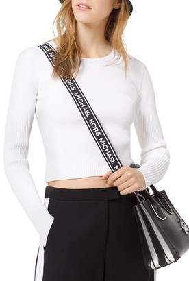MICHAEL Michael Kors Cropped Ribbed Sweater