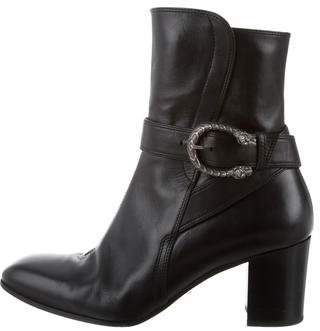 Gucci Dionysus Leather Ankle Boots