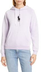 Polo Ralph Lauren Logo Detail Shrunken Cotton Blend Hoodie