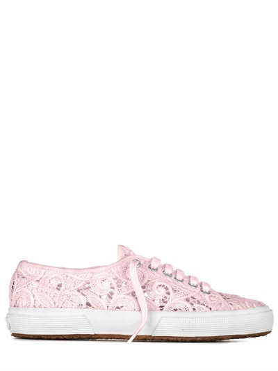 20mm Cotton Lace Sneakers