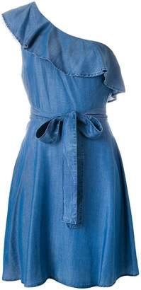 MICHAEL Michael Kors one-shoulder denim dress