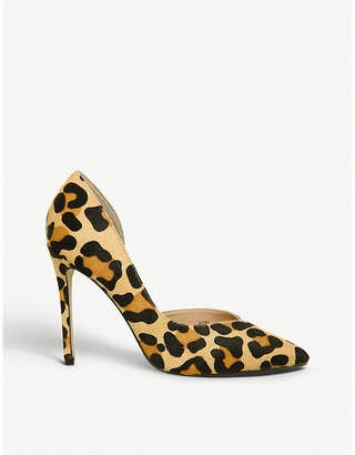 822db21bf41 Office Heighton leopard-print pony-hair courts