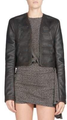 Leather Spencer Jacket
