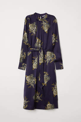 H&M Silk satin dress - Blue