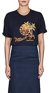 "Fendi Women's ""Testaccio Bay"" Cotton T-Shirt - Navy"