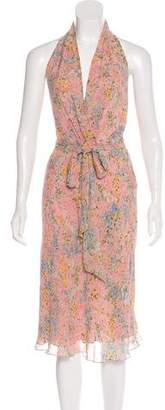 Collette Dinnigan Silk Floral Dress
