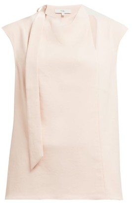 5a0a09bcabb7a Tibi Chalky Drape Tie Crepe Top - Womens - Light Pink