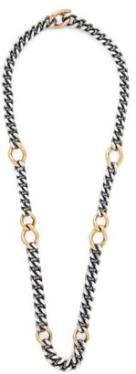 hum Sterling Silver & 18kt Gold Necklace - Womens - Silver Gold