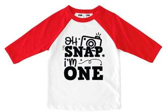 "Sprinkles And Jam ""Oh Snap"" 1st Birthday Boy Shirt Raglan Birthday Outfit"