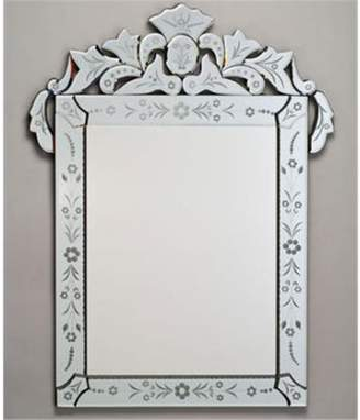 Afina Corporation RM-103 26X36 RECTANGULAR CUT GLASS & ETCHED - RADIANCE TRADITIONAL CABINET FRAME