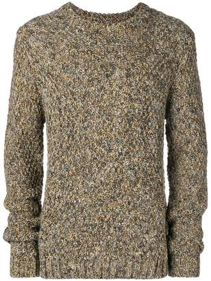 Folk crew neck jumper
